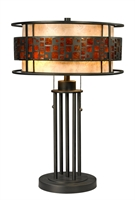 Picture for category Table Lamps 2 Light With Jaa Bronze Finish Steel Medium Base Bulb 14 inch 200 Watts