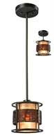 Picture for category Mini Pendants 1 Light With Jaa Bronze Finish Steel Medium Base Bulb 7 inch 100 Watts