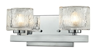 Picture for category Bathroom Vanity 2 Light With Chrome Finish Steel Material G9 Bulb 13 inch 150 Watts
