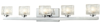 Picture for category Bathroom Vanity 5 Light With Chrome Finish Steel Material G9 Bulb 36 inch 375 Watts