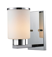 Picture for category Wall Sconces 1 Light With Chrome Finish Steel Medium Base Bulb 5 inch 100 Watts