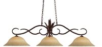 Picture for category Island Lighting 3 Light With Bronze Finish Steel Medium Base Bulb 16 inch 450 Watts