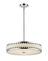 Picture for category Pendants 7 Light With Chrome Finish Steel LED-Integrated Bulb 24 inch 210 Watts