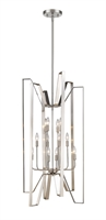 Picture for category Pendants 12 Light With Brushed Nickel Finish Steel Candelabra Base Bulb 22 inch 720 Watts