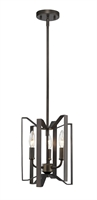 Picture for category Mini Pendants 3 Light With Bronze Finish Steel Candelabra Base Bulb 9 inch 180 Watts