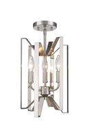 Picture for category Semi Flush 3 Light With Brushed Nickel Finish Steel Candelabra Base Bulb 9 inch 180 Watts