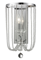 Picture for category Wall Sconces 1 Light With Chrome Finish Steel Candelabra Base Bulb 10 inch 60 Watts
