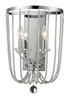 Picture for category Wall Sconces 2 Light With Chrome Finish Steel Candelabra Base Bulb 12 inch 120 Watts