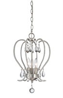 Picture for category Mini Chandeliers 3 Light With Brushed Nickel Finish Steel Candelabra Base Bulb 13 inch 180 Watts