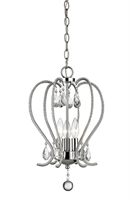 Picture for category Mini Chandeliers 3 Light With Chrome Finish Steel Candelabra Base Bulb 13 inch 180 Watts