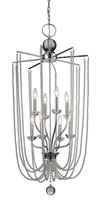 Picture for category Pendants 8 Light With Chrome Finish Steel Candelabra Base Bulb 21 inch 480 Watts