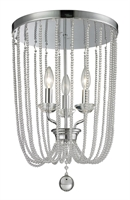Picture for category Flush Mounts 3 Light With Chrome Finish Steel Candelabra Base Bulb 14 inch 180 Watts