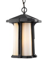 Picture for category Outdoor Pendant 1 Light With Black Finish Aluminum Medium Base Bulb 9 inch 100 Watts