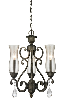 Picture of Chandeliers 3 Light With Golden Bronze Finish Steel Candelabra Base Bulb 17 inch 180 Watts