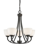 Picture for category Chandeliers 5 Light With Bronze Finish Steel Medium Base Bulb 25 inch 500 Watts