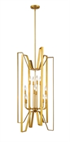 Picture for category Pendants 12 Light With Polished Metallic Gold Finish Steel Candelabra Base Bulb 22 inch 720 Watts