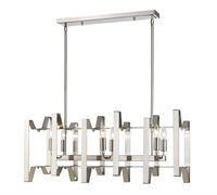 Picture for category Island Lighting 6 Light With Brushed Nickel Finish Steel Candelabra Base Bulb 12 inch 360 Watts