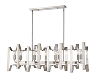 Picture for category Island Lighting 8 Light With Brushed Nickel Finish Steel Candelabra Base Bulb 12 inch 480 Watts