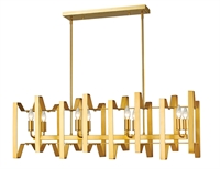 Picture for category Island Lighting 8 Light With Polished Metallic Gold Finish Steel Candelabra Base Bulb 12 inch 480 Watts