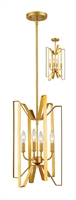Picture for category Pendants 4 Light With Polished Metallic Gold Finish Steel Candelabra Base Bulb 12 inch 240 Watts