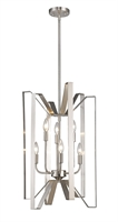 Picture for category Pendants 6 Light With Brushed Nickel Finish Steel Candelabra Base Bulb 16 inch 360 Watts