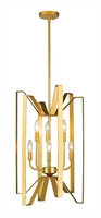 Picture for category Pendants 6 Light With Polished Metallic Gold Finish Steel Candelabra Base Bulb 16 inch 360 Watts