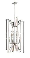 Picture for category Pendants 8 Light With Brushed Nickel Finish Steel Candelabra Base Bulb 19 inch 480 Watts