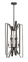 Picture for category Pendants 8 Light With Bronze Finish Steel Candelabra Base Bulb 19 inch 480 Watts