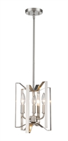 Picture for category Mini Pendants 3 Light With Brushed Nickel Finish Steel Candelabra Base Bulb 9 inch 180 Watts