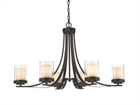 Picture for category Chandeliers 6 Light With Olde Bronze Finish Steel Medium Base Bulb 35 inch 600 Watts