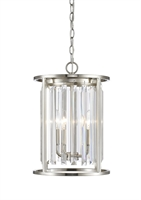 Picture for category Chandeliers 3 Light With Brushed Nickel Finish Steel Candelabra Base Bulb 12 inch 180 Watts
