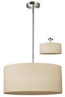 Picture for category Pendants 3 Light With Brushed Nickel Finish Steel Medium Base Bulb 20 inch 300 Watts