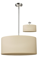 Picture for category Pendants 3 Light With Brushed Nickel Finish Steel Medium Base Bulb 24 inch 300 Watts