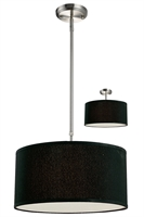 Picture for category Pendants 3 Light With Brushed Nickel Finish Steel Medium Base Bulb 16 inch 180 Watts