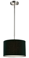 Picture for category Pendants 1 Light With Brushed Nickel Finish Steel Medium Base Bulb 12 inch 60 Watts