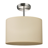 Picture for category Semi Flush 1 Light With Brushed Nickel Finish Steel Medium Base Bulb 12 inch 60 Watts