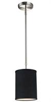 Picture for category Mini Pendants 1 Light With Brushed Nickel Finish Steel Medium Base Bulb 6 inch 60 Watts