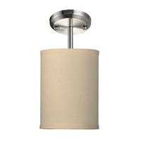 Picture for category Semi Flush 1 Light With Brushed Nickel Finish Steel Medium Base Bulb 6 inch 60 Watts