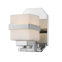 Picture for category Wall Sconces 1 Light With Chrome Finish Steel LED-Integrated Bulb 5 inch 8 Watts