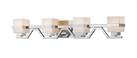 Picture for category Bathroom Vanity 4 Light With Chrome Finish Steel LED-Integrated Bulb 34 inch 32 Watts