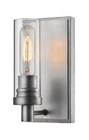 Picture for category Wall Sconces 1 Light With Old Silver Finish Steel Medium Base Bulb 5 inch 60 Watts
