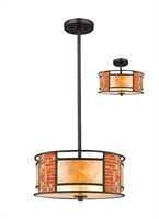 Picture for category Pendants 3 Light With Bronze Finish Steel Material Medium Base Bulb 14 inch 300 Watts