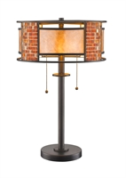 Picture for category Table Lamps 2 Light With Bronze Finish Steel Medium Base Bulb 14 inch 200 Watts