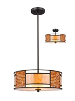 Picture for category Pendants 3 Light With Bronze Finish Steel Material Medium Base Bulb 18 inch 300 Watts
