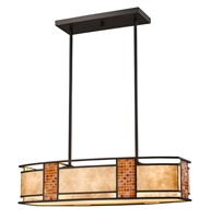 Picture for category Island Lighting 4 Light With Bronze Finish Steel Medium Base Bulb 12 inch 400 Watts