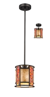 Picture for category Mini Pendants 1 Light With Bronze Finish Steel Medium Base Bulb 8 inch 100 Watts