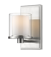 Picture for category Bathroom Vanity 1 Light With Brushed nickel Finish Steel LED-Integrated Bulb 5 inch 8 Watts