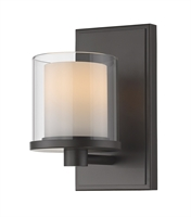 Picture for category Bathroom Vanity 1 Light With Bronze Finish Steel LED-Integrated Bulb 5 inch 8 Watts