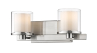 Picture for category Bathroom Vanity 2 Light With Brushed nickel Finish Steel LED-Integrated Bulb 15 inch 16 Watts