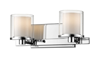 Picture for category Bathroom Vanity 2 Light With Chrome Finish Steel LED-Integrated Bulb 15 inch 16 Watts